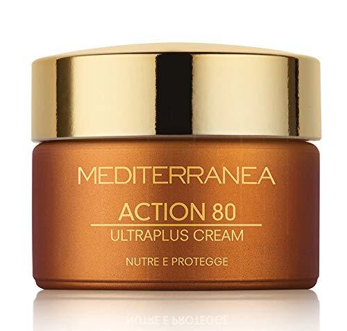 Mediterranea - Action 80 Ultraplus Cream - Crema Viso Antirughe Giorno e Notte per Pelli Mature -...