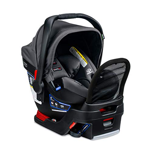 Britax B-Safe Endeavours Infant Car Seat, Cool N Dry - Cool Flow Moisture Wicking Fabric - 3 Layer Impact Protection - No Rethread Harness - Anti Rebound Bar - European Belt Guide for No Base Install