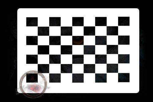 Zielflagge Finish Flag 3 Profi Airbrush Schablone - Stencil Bodypaint Tattoo