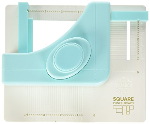 We R Memory Keepers WR663158 Square Punch Board, Plastique, Multicolore, 20 x 20 x 10 cm