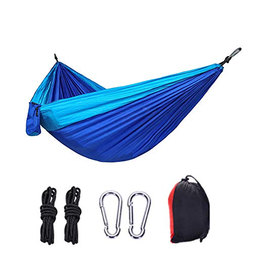 Camping Hammock, DALADA Single Double Person Hammock with Tree Straps Storage Bag, Portable Lightweight Fishing Swing Bed Outdoor Survival Equipment for Hiking Travel Trekking Backpacking Garden Beach