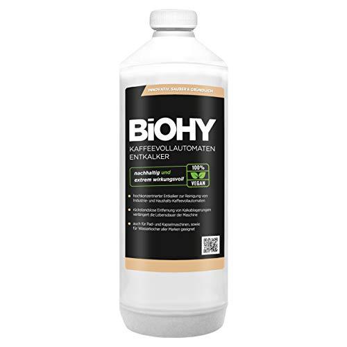 BiOHY Kaffeevollautomaten Entkalker (1l Flasche)   Ideal zur Entkalkung von allen Kaffeemaschinen & Espressomaschinen  Ca. 20 Entkalkungsvorgänge/Flasche