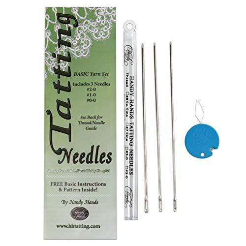 Handy Hands Tatting Needles For Yarn-Set of 3 (#0-0, 1-0, 2-0)