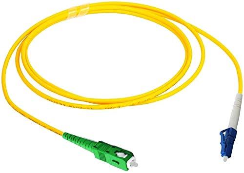 Elfcam Glasfaserkabel SC/APC auf LC/UPC Simplex Singlemode 9/125 µm, LWL Kabel LSZH, 10M