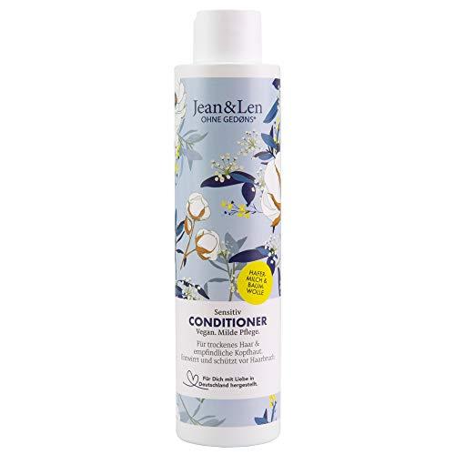 Jean & Len Philosophie Conditioner Sensitiv Hafermilch & Baumwollsamenöl, für trockenes Haar und empfindliche Kopfhaut, spendet Feuchtigkeit und sanfte Pflege, 300 ml, 1 Stück