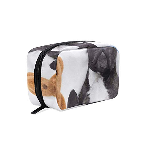 CONICIXI Stylish Daily Toiletry Bag French Bulldog Sleeping With Teddy Bear Cozy Bed Best Friends Fun Dreams Image Makeup Accessories Organizer Cosmetic Bags Travel Storage Pouch Handbag Portable