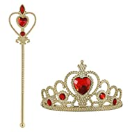 Vicloon Princess Dress Up Accessories: crown, scepter. Cosplay, Carnival Birthday Party Halloween Pa...