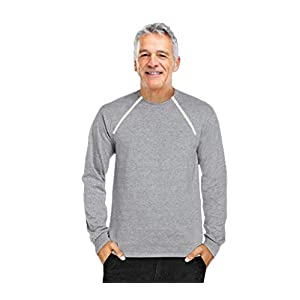 ComfyChemo CHEMOWEAR : : Men's Long Sleeve Chemotherapy Port Zipper Shirt