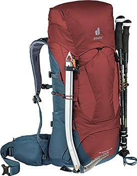 deuter AircontactLite Sac à dos de trekking, Mixte Adulte, Rouge/ Bleu (Séquoia-Arctique), 50L