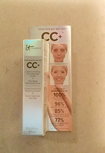 It Cosmetics CC+ Color Correcting Full Coverage Cream - Tan - Travel size - 4 ml/0.135 fl oz