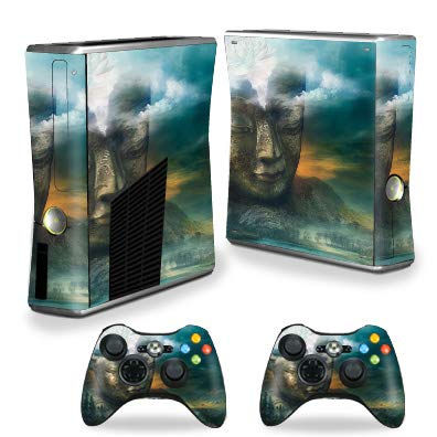MightySkins Skin Compatible with Xbox 360 S Console - Insight Buddha | Protective, Durable, and Unique Vinyl Decal wrap Cover | Easy to Apply, Remove, and Change Styles | Made in The USA