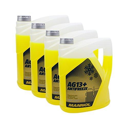 4X MANNOL MN4014-5 AG13+ Advanced Antifreeze -40°C Kühlerfrostschutz 5L