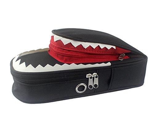 Sipliv bolsa de lápiz de tiburón 3d, doble capa con