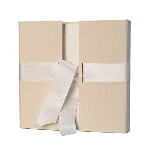 Weddix Gästebuch Creme - elegantes Leinen Gästealbum für die Vintage Hochzeit, Geburtstag und andere besondere Anlässe