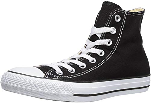 Chuck Taylor All Star Canvas High Top, Black/White, 12.5 Women/10.5 Men
