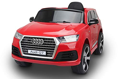Coche eléctrico para niños Audi Q7 Quattro Nuevo, Rojo, con Licencia Original,...