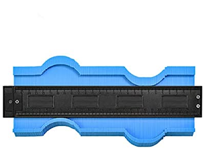 Contour Gauge Duplicator 10 Inch -[2019 New Version]Working Shape Tracing Template Measuring Tool, Easy Outline Plastic Contour Pipe Tile Frame Gauge,