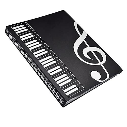 Cartellina per spartiti,Formato A4,30 tasche,per Scrivibile Borsa porta Documenti Musicale Per Suonatori di Strumenti