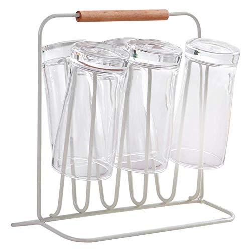 Metal fles afdruiprek Abtropfhalter fles bekerhouder keuken bekerhouders glas hangers,White