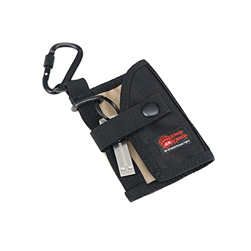 Rough Enough Key FOB Case Cover Credit Card Holder Coin Purse for Men EDC wallet with Key Ring for Boys Teen Car Cool Designer Tactical Keychain Wallet Clip on Keyring Outdoor Sport School Black