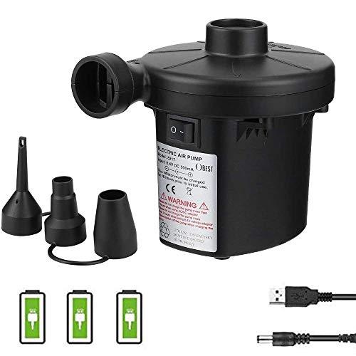 3T6B Bomba de Aire Eléctrica Recargable, USB Inflador Eléctrico Portátil, para Aire...