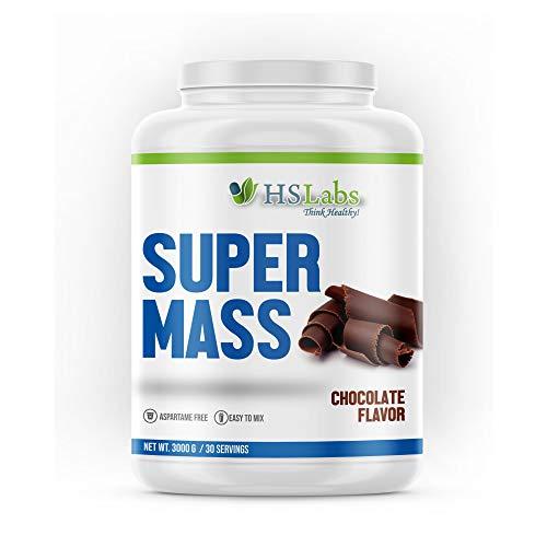 HSLabs SUPER MASSe Weight Gainer Protein Pulver Kohlenhydrat Whey Komplex Muskelaufbau Masseaufbau Massephase Eiweiß Chocolate Schoko 10 30 Portionen (Chocolate 3 kg)