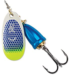Blue Fox Classic Vibrax 06 Tackle, Blue Scale Chartreuse Tip UV, 5/8