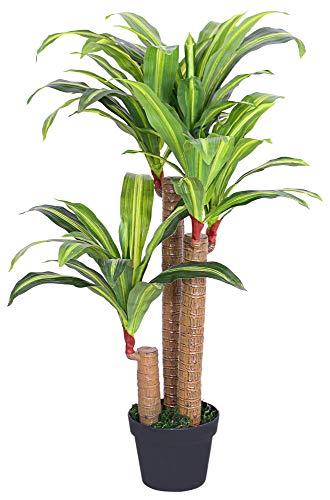 Decovego Dragonnier Dracéna Plante Artificielle Artificiel Plastique avec Pot 100cm