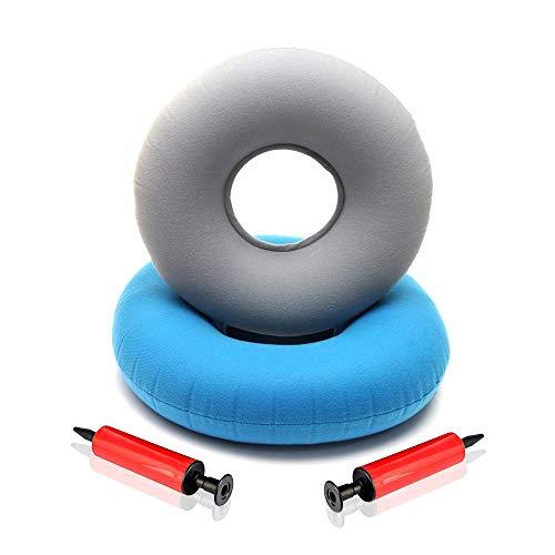 Kitchen-dream 2Pcs Donut Cushion Aufblasbares Ringkissen, Ringkissen oder Donut, Sitzkissen Donut, mit 2 Pumpen Medical Grade Donut Sitzkissen