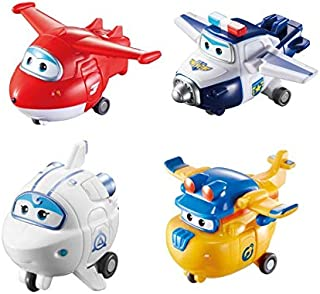 Super Wings - Transforming Toy Figure 4 Pack, Jett, Paul, Astra, & Build-It Donnie| 2