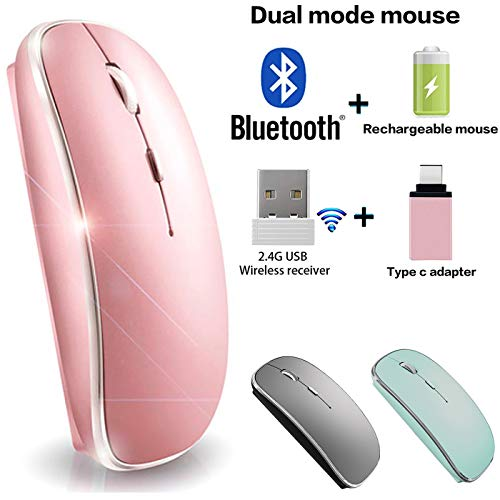 Bluetooth Mouse Wireless Bluetooth Mouse for iPad Mac MacBook Pro MacBook Air iMac Chromebook...