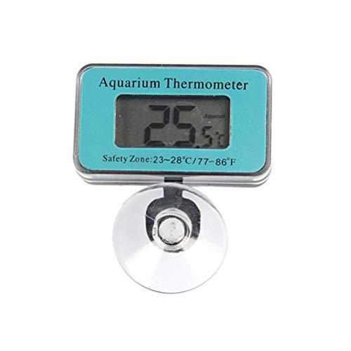 Phayee LCD-Display Aquarienthermometer, Wasserdicht Aquarium Thermometer, Digitales Aquarien Thermometer für Süßwasser und Meerwasser
