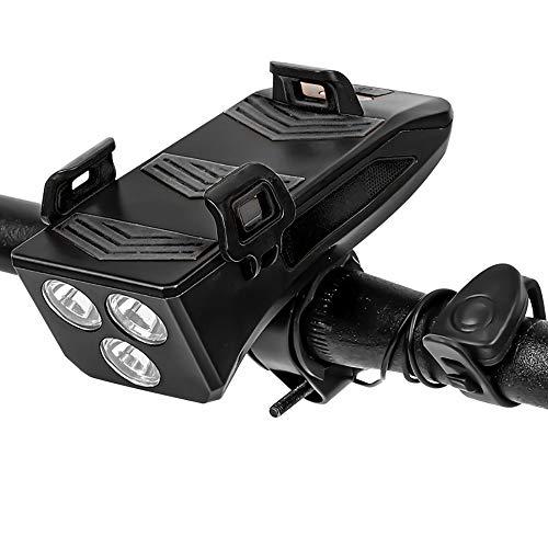 Juego de Luces de Bicicleta Recargables USB 4 en 1, Kinberry 3 Modos de Luces LED para Bicicleta Juego de Luces de Bicicleta LED Delanteras y traseras Resistentes al Agua