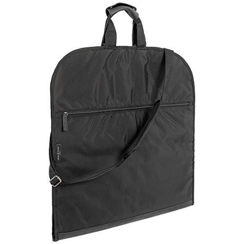 OTIS&ZANE® Hochwertiger Design Kleidersack Anzugtasche für bis zu 5 Anzüge – mit exklusivem Reise-Set als Geschenk – für Geschäftsreisen Flug Handgepäck – Anzughülle – mit Schultergurt – schwarz