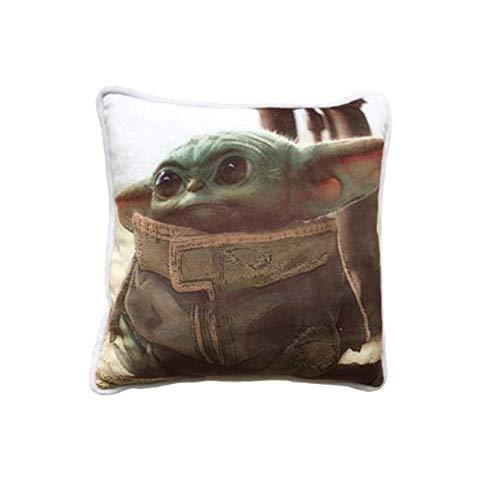 Cojín cuadrado para bebé Yoda The Mandalorian – cómodo y agradable de apretar – Diseño: Baby Yoda – Regalo para Fan y apasionado – Calidad superior – Dimensiones 40 cm x 40 cm