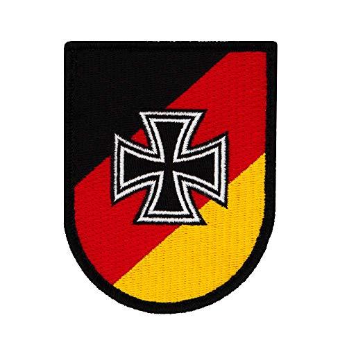 Café Viereck ® Bundeswehr Reservisten Patch Gestickt mit Klett - 7 cm x 9 cm