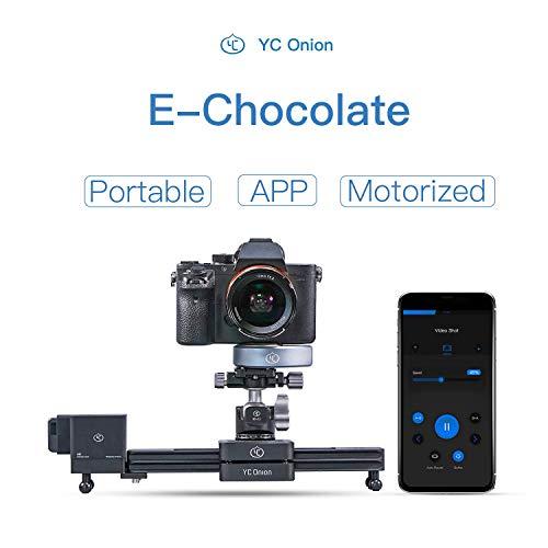 YC Onion Motorisierte Kamera Slider Kameraschiene, APP Steuerung Einziehbar Multi-Winkel Tragbar Aluminiumlegierung 30cm Schieberegler Kamera Dolly Track für DSLR Kamera DV Film Vlog Fotografie