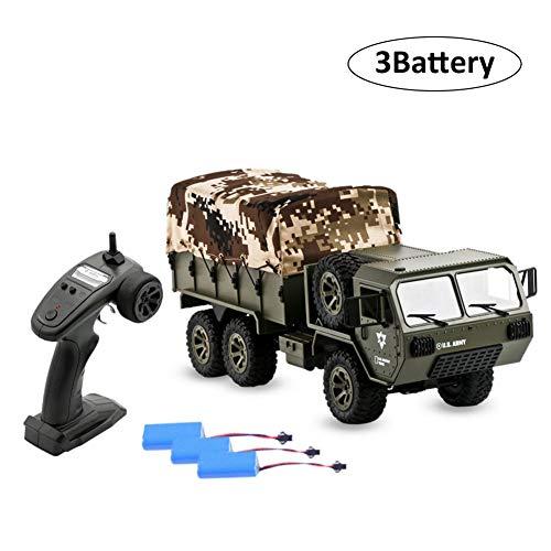 2,4G 6WD Elektrisches RC-Auto US Army Military Truck RTR Fahrzeug Crawler mit Zelt Fayee FY004A 1/16