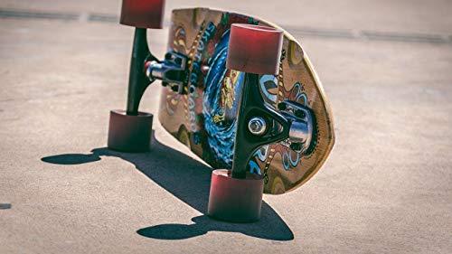 YINGXINXWM DIY Malen Nach Zahlen Kit Leinwand Ölgemäld Skateboard Räder Board Erwachsene Kinder Anfänger...
