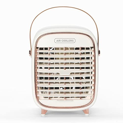 Aires Acondicionado Ventilador de Enfriamiento de Hielo de Escritorio Escritorio de Carga USB Escritorio Conveniente RefrigeracióN en Aerosol Ventilador de Aire Acondicionado PortáTil Enfriador de A