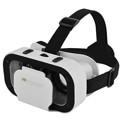 PUSOKEI Cuffie VR, Occhiali 3D per Realtà virtuale, compatibili con Smartphone con Dimensioni da 4.0 a 6.0 Pollici, Occhiali per Smartphone, Comoda Distanza Regolabile, Regalo per Bambini