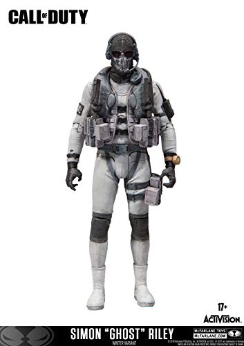 McFarlane Toys Call of Duty: Simon Ghost Riley Exclusive Action Figure with Black ops 4 ingame Content Code