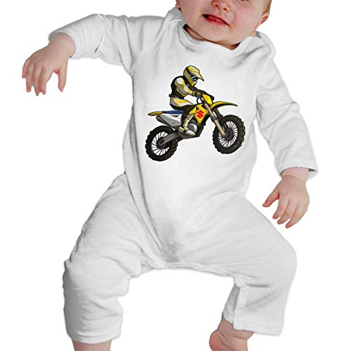maichengxuan Mameluco Bebé Got Dirt Bike Motocross Logo Pijama de Algodón Mameluco Niñas Niños Pelele Mono Manga Larga Trajes Newborn Black