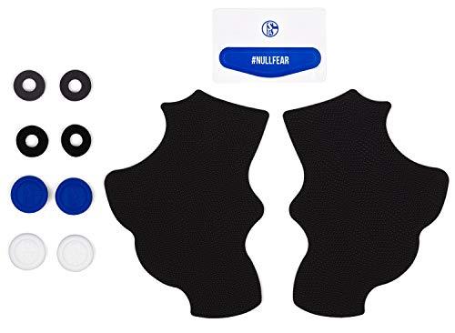 snakebyte S04 Controller Set (Dual-Shock 4 - PS4) - Offiziell lizenziertes FC Schalke 04 Gamepad Kit für Dualshock 4 / Tuning Kit / Aufkleber / Rutschfeste Griffpolster / Aufsätze für Joystick