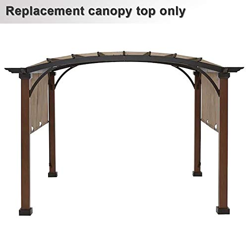 ABCCANOPY Pergola Replacement Canopy Cover for A+R Woodgrain Pergola Gazebo Model Number L-PG152PST-B Sold at Lowe's, Beige