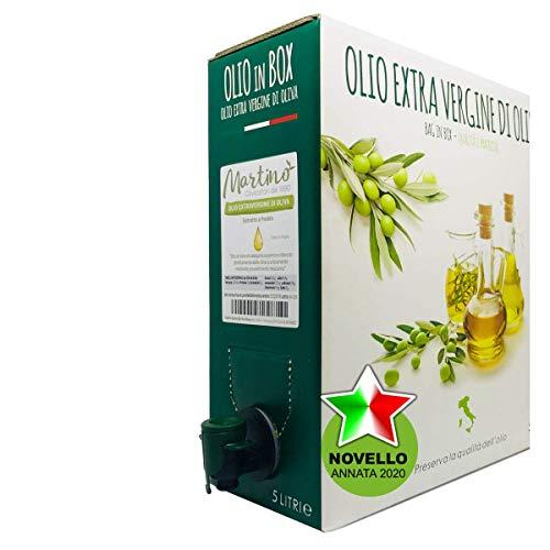 Frantoio Oleario Martino Alfonso - Olio Extravergine di Oliva 100% Italiano estratto a freddo - BAG in BOX da 5 litri con erogatore