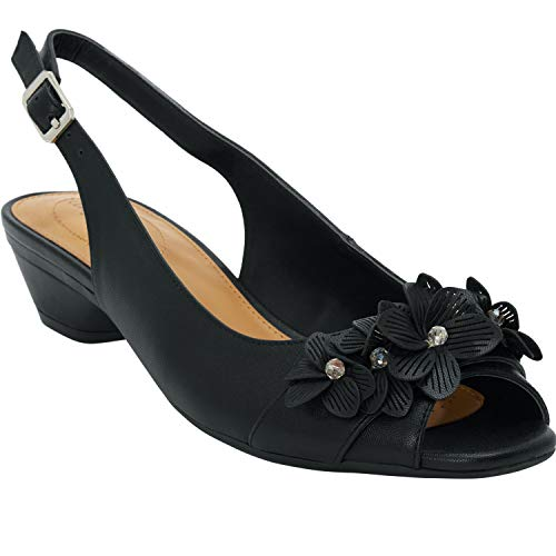 Comfortview Women's Wide Width The Rider Slingback Shoes - 10 WW, Black