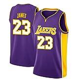 Victorem Lebron James #23 Camiseta de Baloncesto para Hombres - NBA Lakers, Nuevo Tela Bordada Camiseta Deportivas de Jersey Swingman (Tamaño: S-XXL)