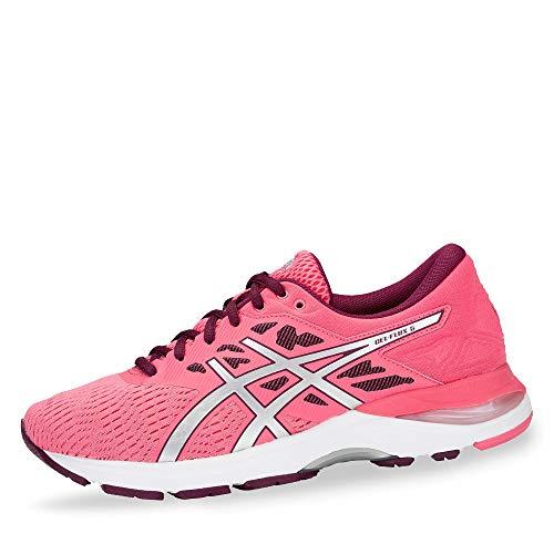 ASICS T861N-700 Gel-Flux 5 Damen Laufschuh aus Mesh mit Overlays Gel-Dämpfung, Groesse 40, pink/Silber