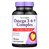 Natrol Omega-3-6-9 Complex with Flax and Borage, 90 Softgels (Pack of 2)